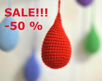 spring sale SALE!!! -50% Funny Rainbow Rain Baby Mobile Toy