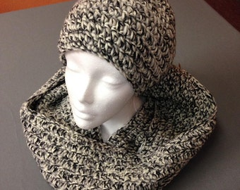 Stone Mix Crocheted Beanie Hat