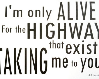 Highway -Romantic Haiku -Simple