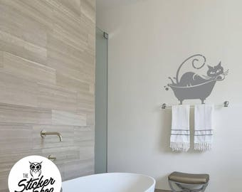Cat Wall Decal - Tubby Tabby