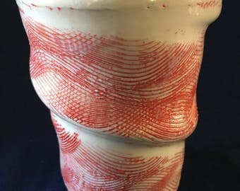 Red Textured Cups