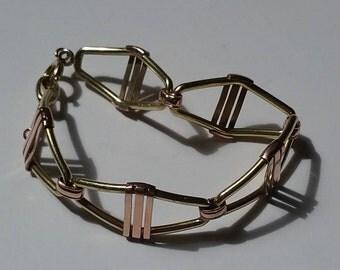 krementz gold and copper tone bracelet