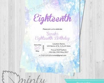 Birthday Invitation | 18th Birthday Invitation | 21st Invitations | 30th Birthday Invitation | Any Age Birthday