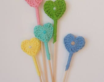 5 hearts crochet for wedding guests