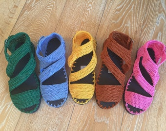 crochet sandals with rubber soles