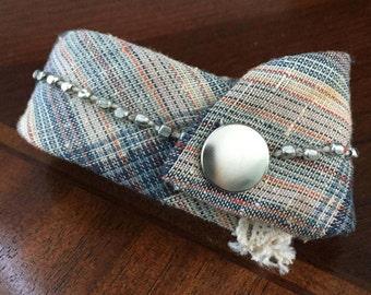 recycled tie to bracelet