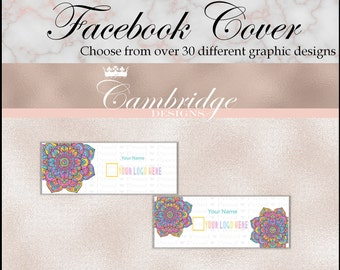 Black OR White Background Facebook Cover Photo - Home Office Approved Fonts and Colors Business Card, Digital