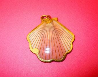 Vintage Gilded Seashell Pendant