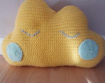 Handmade Crochet Cloud Cushion