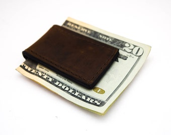 Leather Money Clips, Magnetic Money Clips, Father's Day Gift, Gifts for Him,