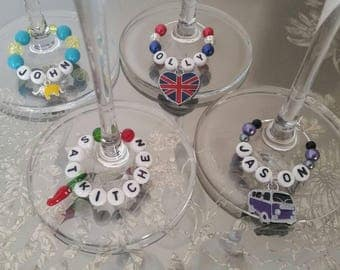 Masterchef - Never Mix Up Your Glass Again with a Personalised Glass Stem Charm perfect for keeping your wine safe from your auntie!