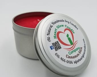 6 oz. Candle Travel Tin (Soy/Palm)