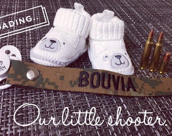 Personalized Military Pacifier Clip