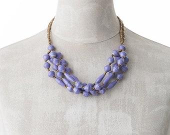 Paper necklace FELISTAS | Lavender | Uganda