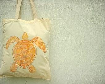 Unique Gift - Turtle Handpainted Handbag