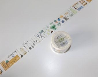 Gardening Washi tape Maskingtape