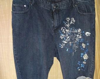 PLUS Size Spectacular Denim Shorts Upcycled Jeans
