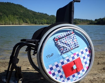 """Accessory for flange of wheel of a wheelchair """"enjolieroue"""" 24 inches"""