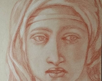 Study of Michelangelo's Delphic Sibyl