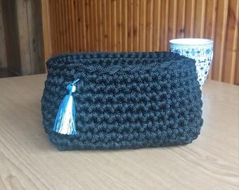 Rope basket, crochet, handmade