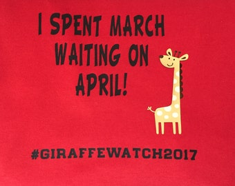April the giraffe shirt