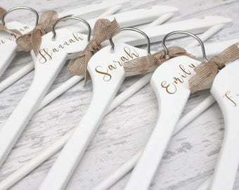 Personalised Wedding Day Dress Bridal Bridesmaid Keepsake Coat Hangers
