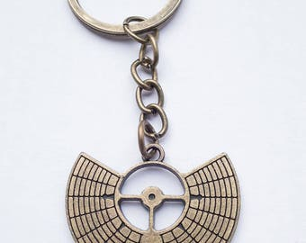 Burning Man sacred geometry playa gift keyring