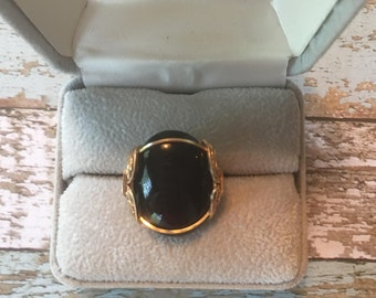 14k Gold Filled Wire Wrapped Black Onyx ring