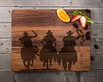 Horse Men Engraved Cutting Board Riding Horse Engraved Gift Board Men And Horse Customed Cutting Board