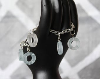 Raindrops Resin and Crystal Bracelet