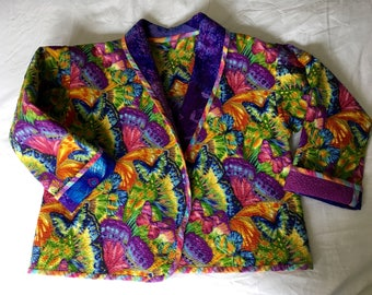Ladies Quilted Cotton Butterfly Jacket
