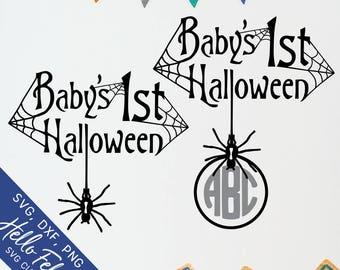 Halloween Svg, Baby Svg, First Svg, Spider Svg, Spider Web Svg, Dxf, Jpg, Svg files for Cricut, Svg files for Silhouette, Vector Clip Art