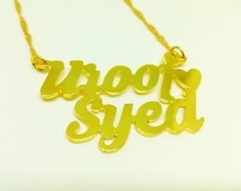 Name Necklace , Couples gift idea. Charm Gift Idea . Name Pendant