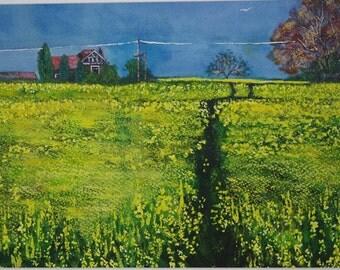 Painting Rape Field Original landscape