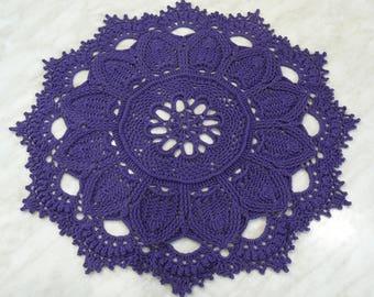 Lace crochet doilyRound doilyCotton doilyHandmade doilyHome decorTable decorHousewarming giftMothers giftGift for herAnniversary gift