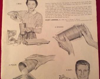 1958 Vintage Life Magazine ad – Aunt Jemima Pancake Mix