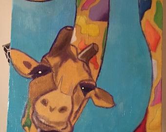 Paint Splatter Giraffe