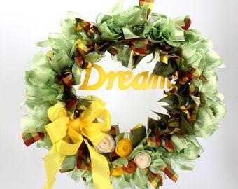 "Inspirational ""Dream"" Wreath"