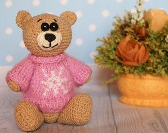 Crochet Amigurumi Bear Toy,  Teddy Bear Toy, Crochet Bear, Crochet Amigurumi Bear Stuffed Toy, Crochet Bear, Teddy Bear, Handmade Bear
