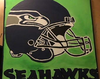 Seattle Seahawks one of a kind painting!