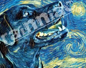 DOG PORTRAIT Starry Night Custom Acrylic Painting of Your Dog