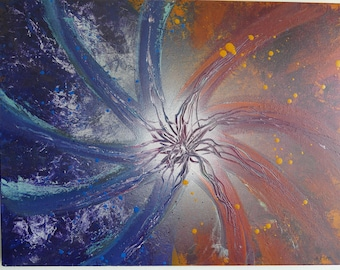 "Abstract oil painting, ""OtherWise Fusion"""