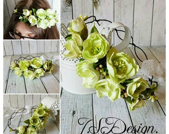 Flower wreath wedding communion flower hair accessories flower Crown