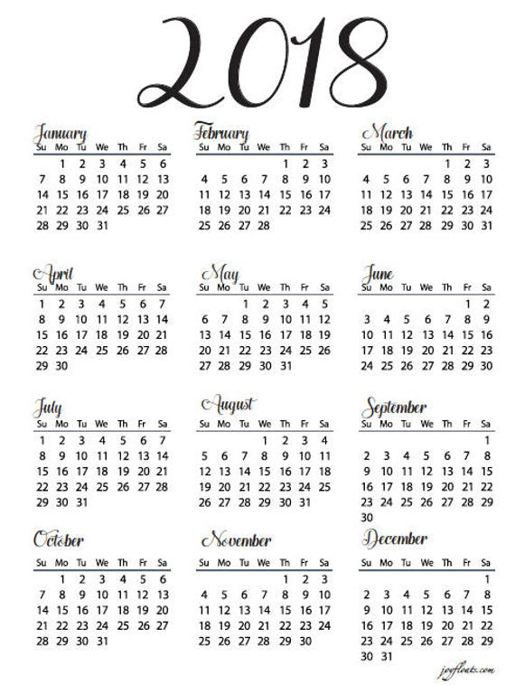 Year Calendar At A Glance : Big happy planner year at a glance calendar from