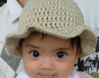 Crochet #Baby Summer #Hat - Wheat, Pink, Blue, or White