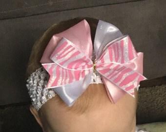 Pink Zebra Headband