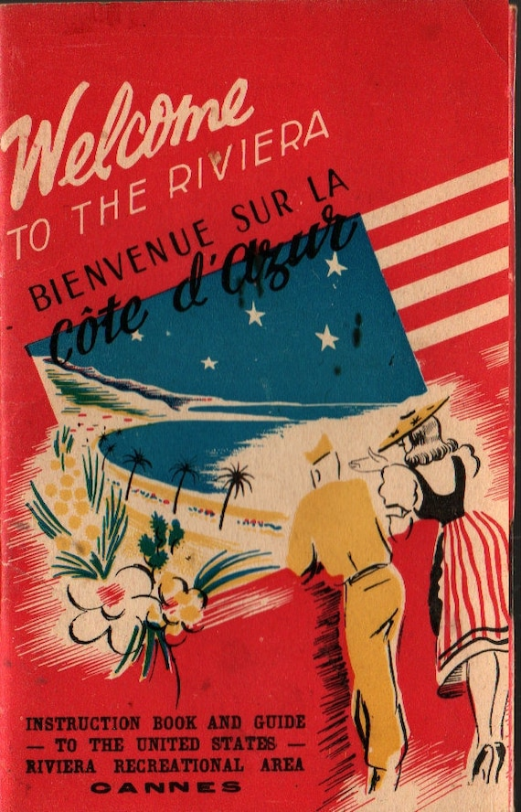Welcome to the Riviera - Special & Information Services, United States Riviera Recreational Area - 1945 - Vintage Tour Guide