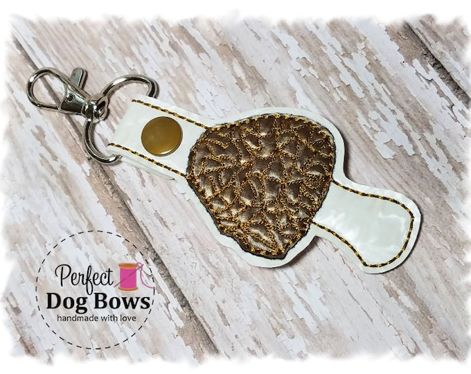 Morel Mushroom Keychain, Mushroom Key FOB, Zipper Pull Charms, Outdoorsy Gifts, Gifts for Campers