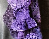 Hand Dyed Vintage Crochet Doilies in Purples