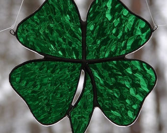 Stained Glass Four Leaf Clover